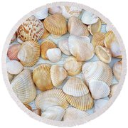 Sea Of Gold Round Beach Towel