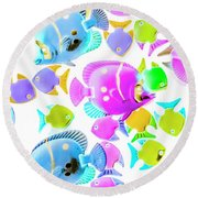 Sea Swimmers Round Beach Towel