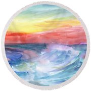 Sea Wave Round Beach Towel