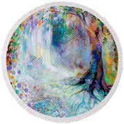 Searching For Forgotten Paths IIi Round Beach Towel