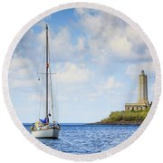 Seascapes 4 Round Beach Towel