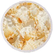 Seashell Tropics Round Beach Towel