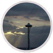 Seattle Light Round Beach Towel