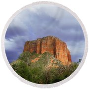 Devil's Mountain Round Beach Towel
