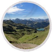 Round Beach Towel featuring the photograph Seealpsee, Allgaeu Alps by Andreas Levi