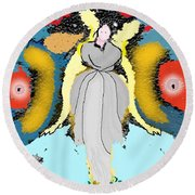 Seeing Angels Round Beach Towel