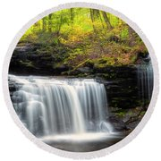Round Beach Towel featuring the photograph Seeing Double by Russell Pugh