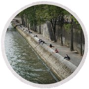 Round Beach Towel featuring the photograph Seine by Jim Mathis