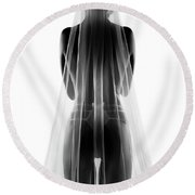 Sensual Bride In Lingerie2 Round Beach Towel