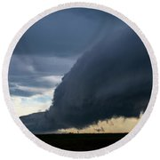 September Thunderstorms 003 Round Beach Towel