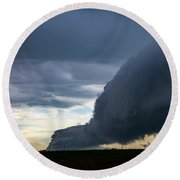 September Thunderstorms 003 Round Beach Towel