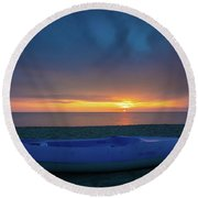 Round Beach Towel featuring the photograph Serata Blu Sul Mare by Tim Bryan
