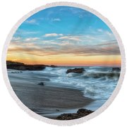 Round Beach Towel featuring the photograph Serene Brutality by Russell Pugh