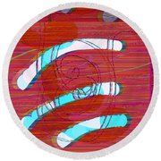 Round Beach Towel featuring the digital art Set Me Free by Bee-Bee Deigner