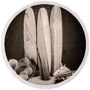 Seventies Surfing Round Beach Towel