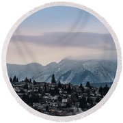 Seymour Winterscape Round Beach Towel
