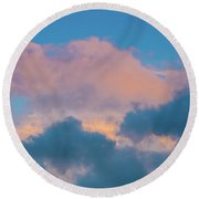 Shades Of Clouds Round Beach Towel