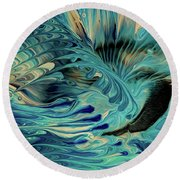 Shadow Of The Wind Round Beach Towel