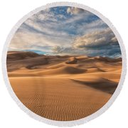 Shadowed Round Beach Towel