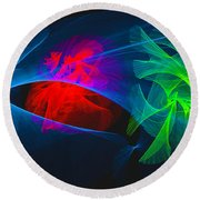 Shapes And Colours #i1 Round Beach Towel