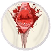 Shark Week Round Beach Towel