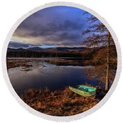 Round Beach Towel featuring the photograph Shaw Pond Sunrise - Landscape by Rod Best
