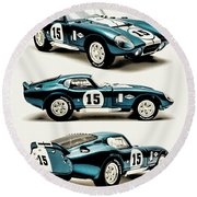 Shelby Cobra Daytona Round Beach Towel
