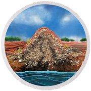 Shell Mound Round Beach Towel