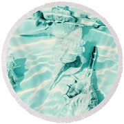 Shell Shallows Round Beach Towel