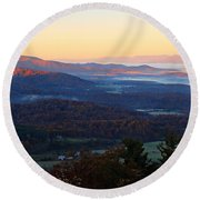 Round Beach Towel featuring the photograph Shenandoah Mountains by Candice Trimble
