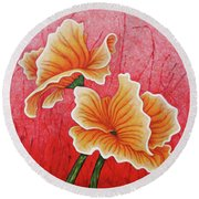 Round Beach Towel featuring the painting Sherbet Daydream by Amy E Fraser