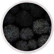 Shibori Sea Urchin Burst Pattern Round Beach Towel