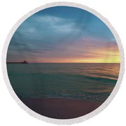 Shine On Me Round Beach Towel