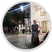 Shinjuku Man Round Beach Towel