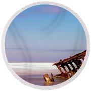 Ship Wreck Round Beach Towel