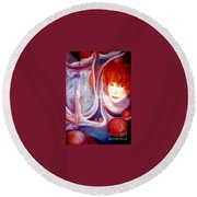 Shirley Incarnate Round Beach Towel