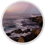 Round Beach Towel featuring the photograph Shoals Of Cape Neddick by Rod Best