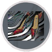 Shoes By Joan - Dragon Fly Wing Pumps Round Beach Towel