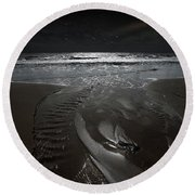 Shore Of The Cosmic Ocean Round Beach Towel