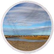 Shoreside Serenity Cape Cod Round Beach Towel