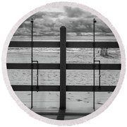Showers Round Beach Towel