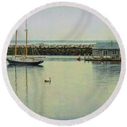 Round Beach Towel featuring the photograph Sigh Of A Sailor by Mike Braun