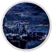 Silent Moments Round Beach Towel