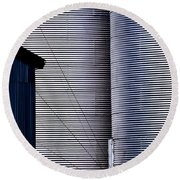 Silo Door Round Beach Towel