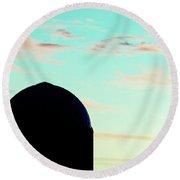 Silo Silhouette Round Beach Towel