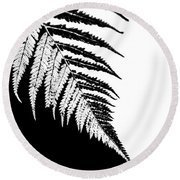 Silver Fern Round Beach Towel