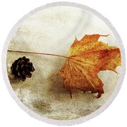Round Beach Towel featuring the photograph Simple And Beautiful by Randi Grace Nilsberg