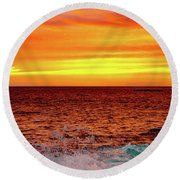 Simple Warm Splash Round Beach Towel