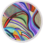 Sinew Round Beach Towel