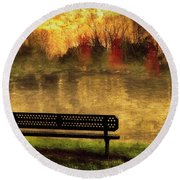 Sit And Admire Round Beach Towel